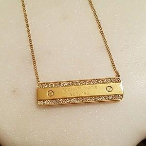 New Michael Kors ID plaque pendant Necklace